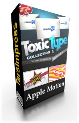 Toxic Type Collection 1 for Apple Motion, تاکزیک تایپ برای اپل موشن